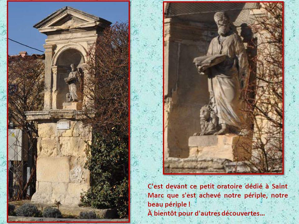 C est devant ce petit oratoire dédié à Saint Marc que s est achevé notre périple, notre beau périple !