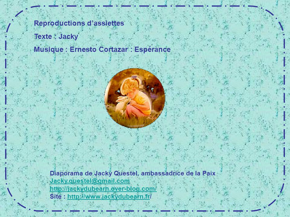 Reproductions d'assiettes Texte : Jacky