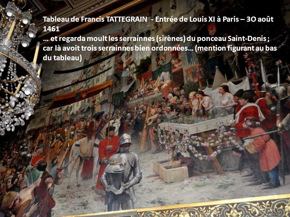Tableau de Francis TATTEGRAIN - Entrée de Louis XI à Paris – 3O août 1461