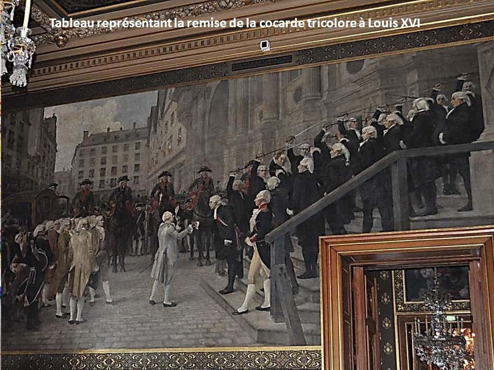 Tableau représentant la remise de la cocarde tricolore à Louis XVI