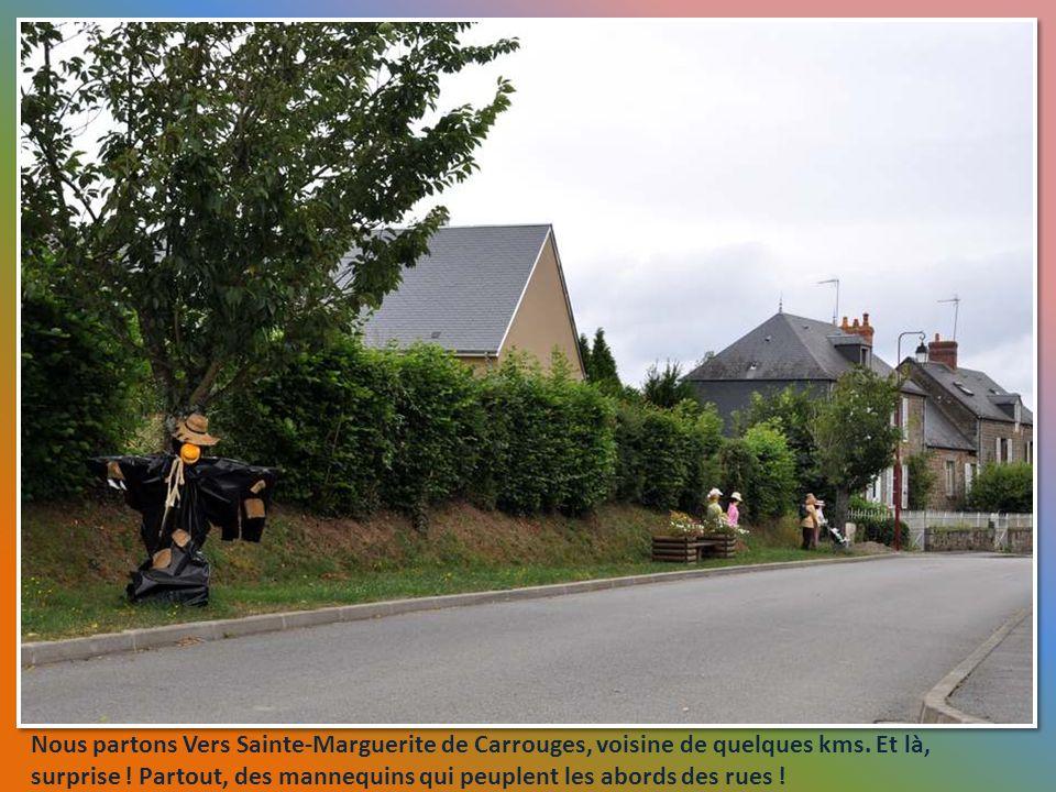 Nous partons Vers Sainte-Marguerite de Carrouges, voisine de quelques kms.