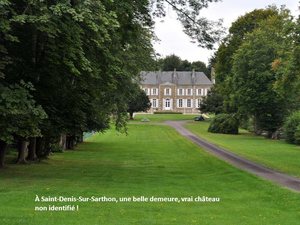 À Saint-Denis-Sur-Sarthon, une belle demeure, vrai château non identifié !