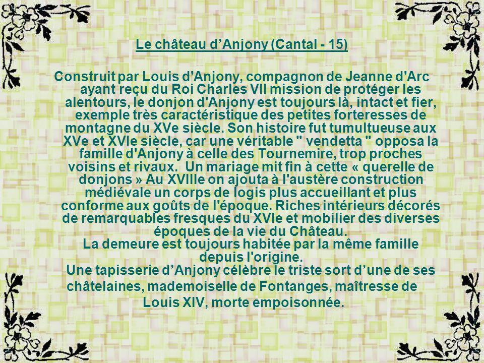 Le château d'Anjony (Cantal - 15)
