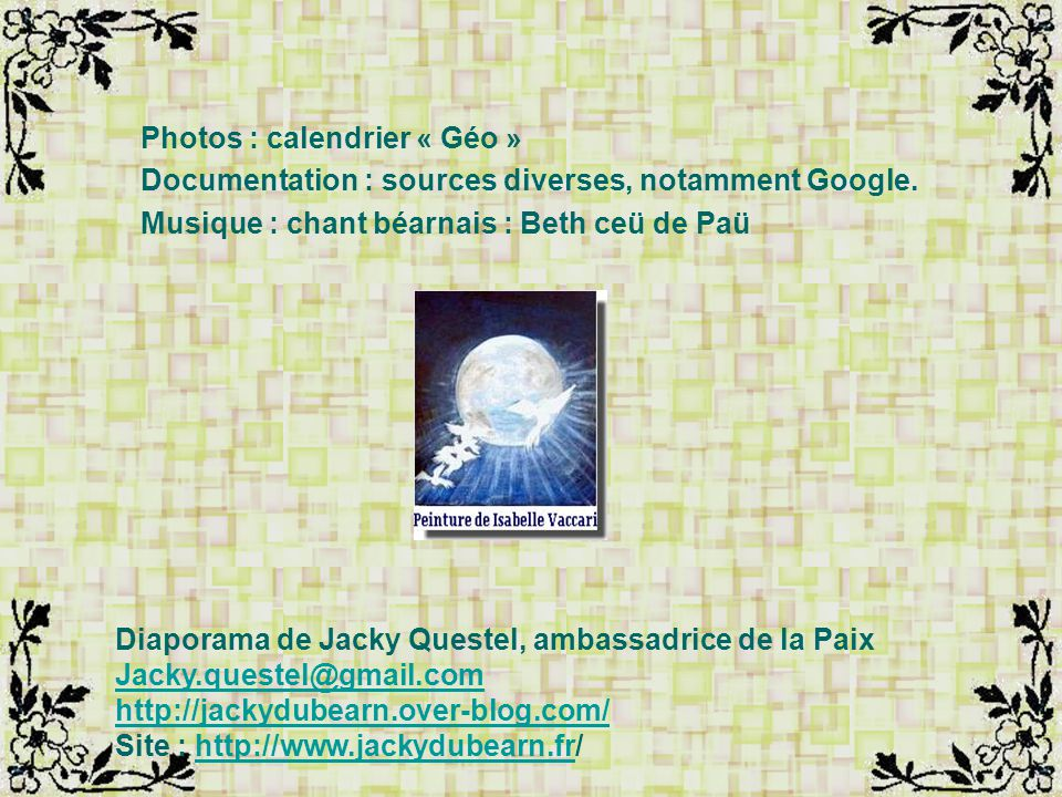 Photos : calendrier « Géo »