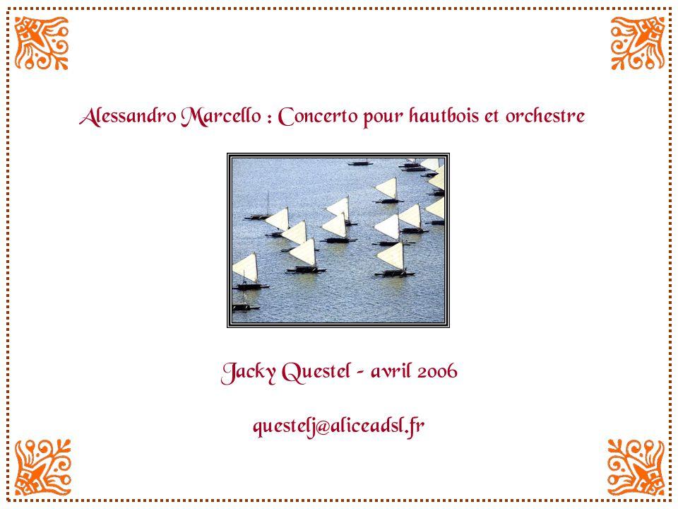 Alessandro Marcello : Concerto pour hautbois et orchestre