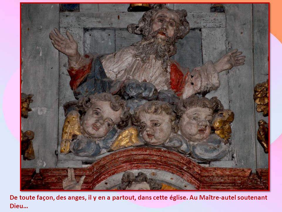De toute façon, des anges, il y en a partout, dans cette église