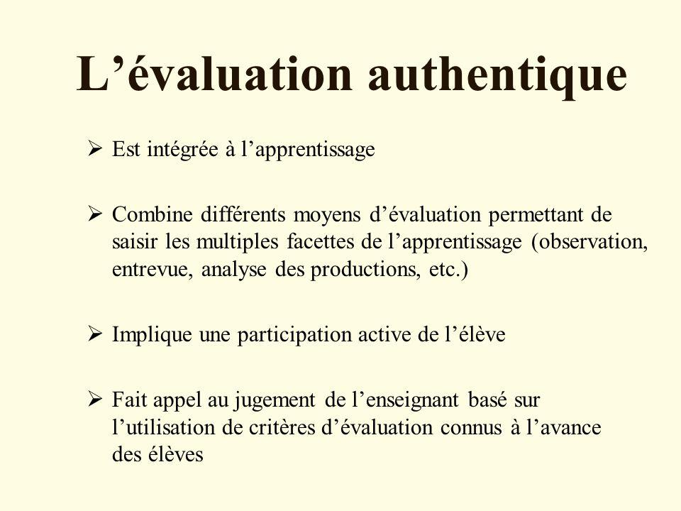L'évaluation authentique