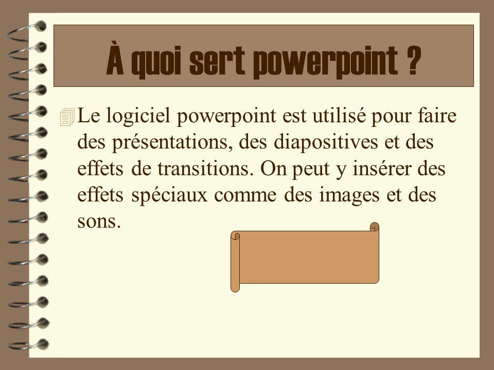 À quoi sert powerpoint