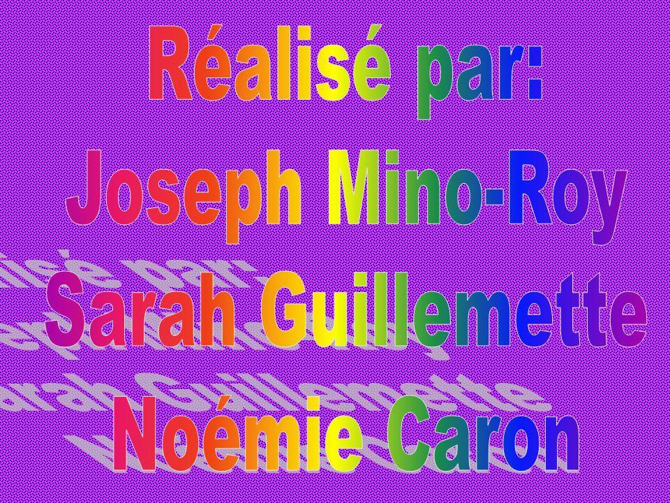 Réalisé par: Joseph Mino-Roy Sarah Guillemette Noémie Caron