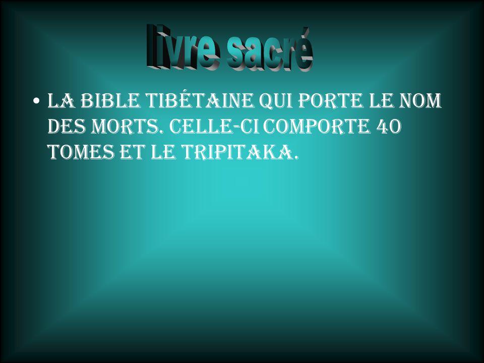 livre sacré La bible tibétaine qui porte le nom des morts.