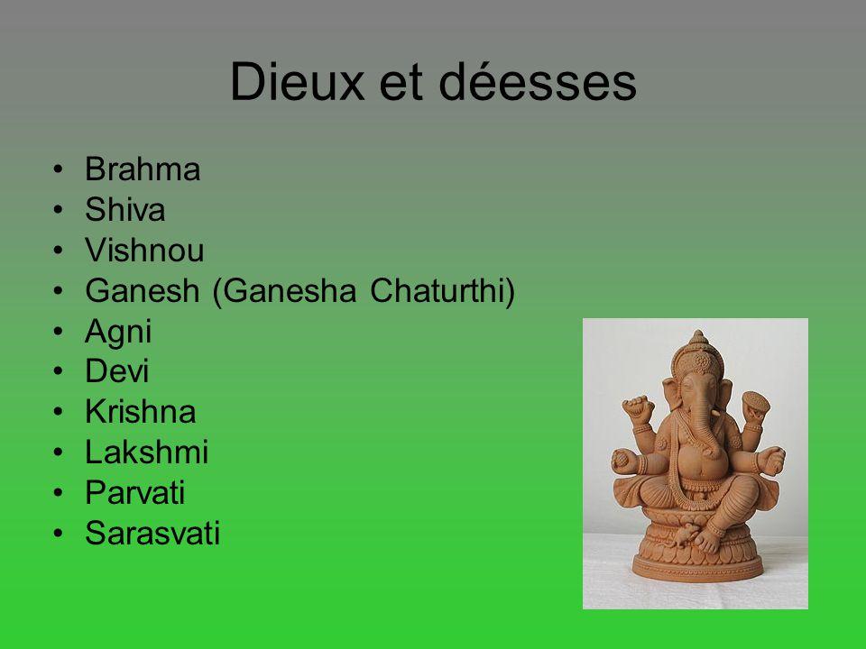 Dieux et déesses Brahma Shiva Vishnou Ganesh (Ganesha Chaturthi) Agni