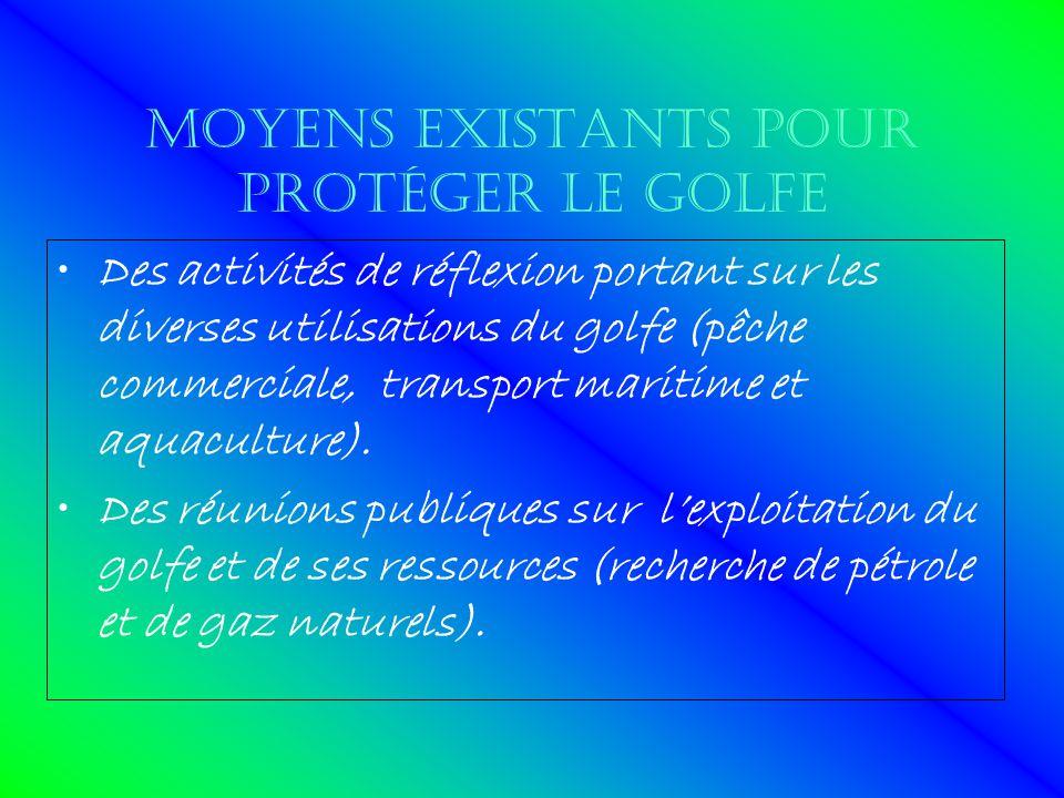 Moyens existants pour protéger le golfe
