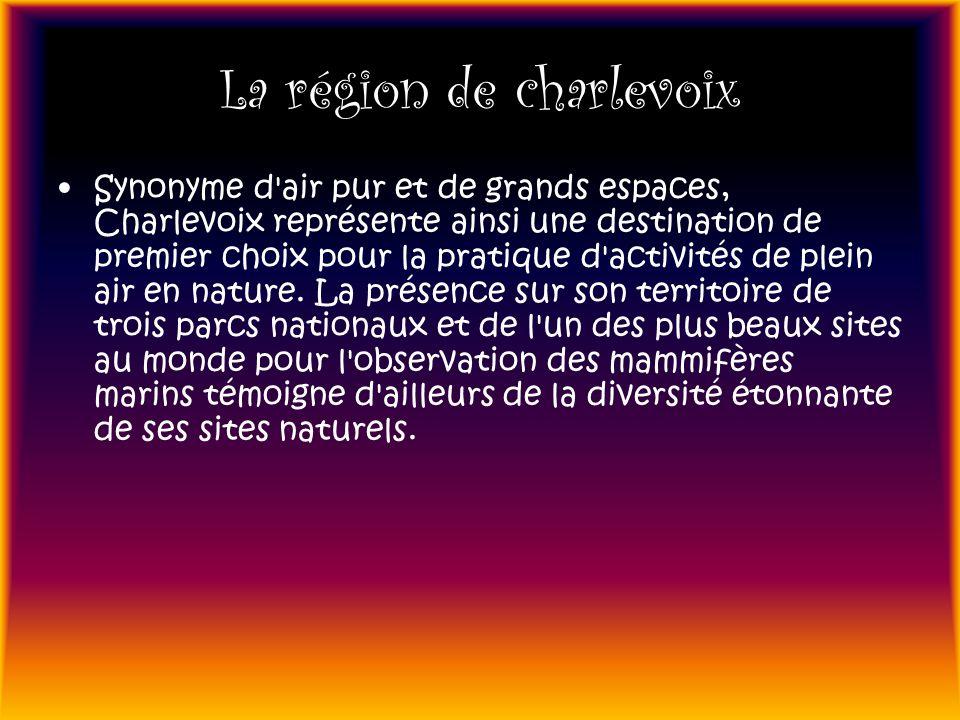 La région de charlevoix