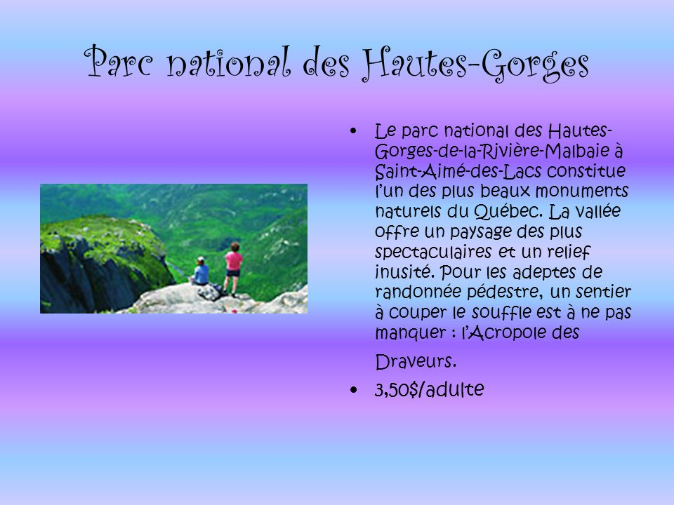 Parc national des Hautes-Gorges