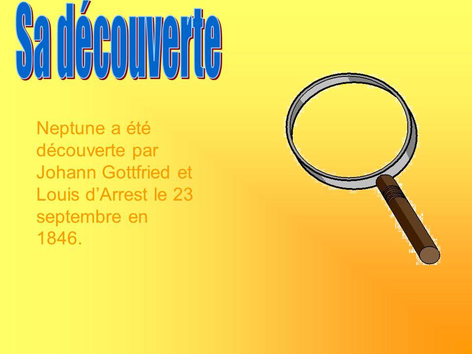Sa découverte Neptune a été découverte par Johann Gottfried et Louis d'Arrest le 23 septembre en 1846.