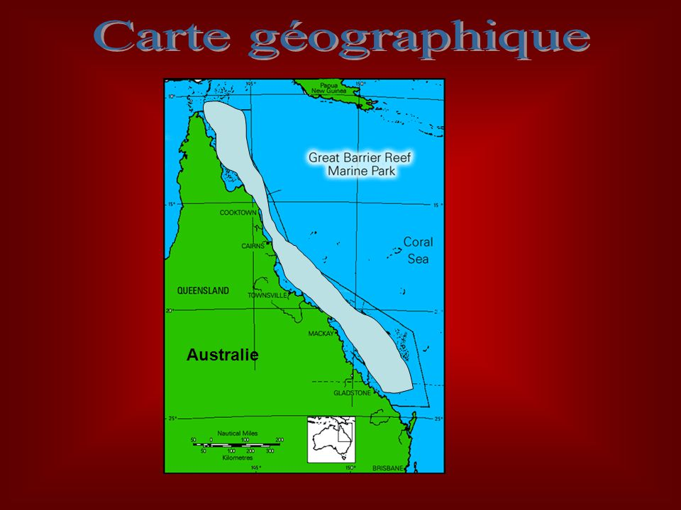Carte géographique Australie