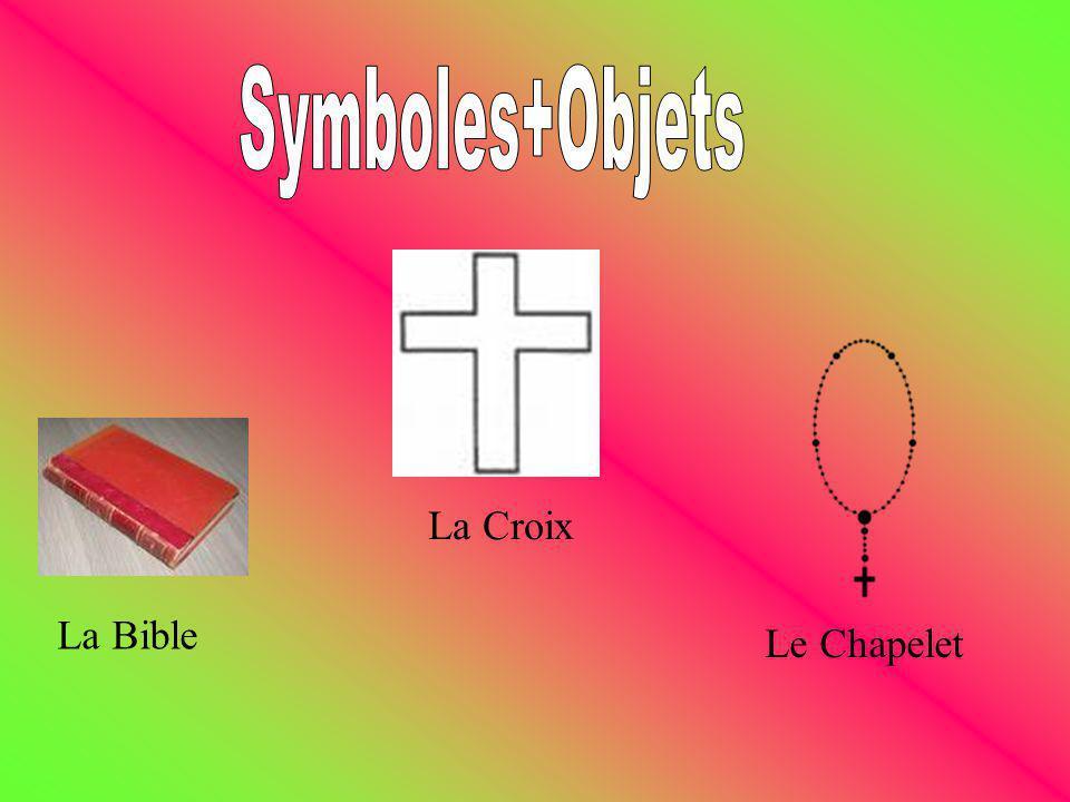 Symboles+Objets La Croix La Bible Le Chapelet