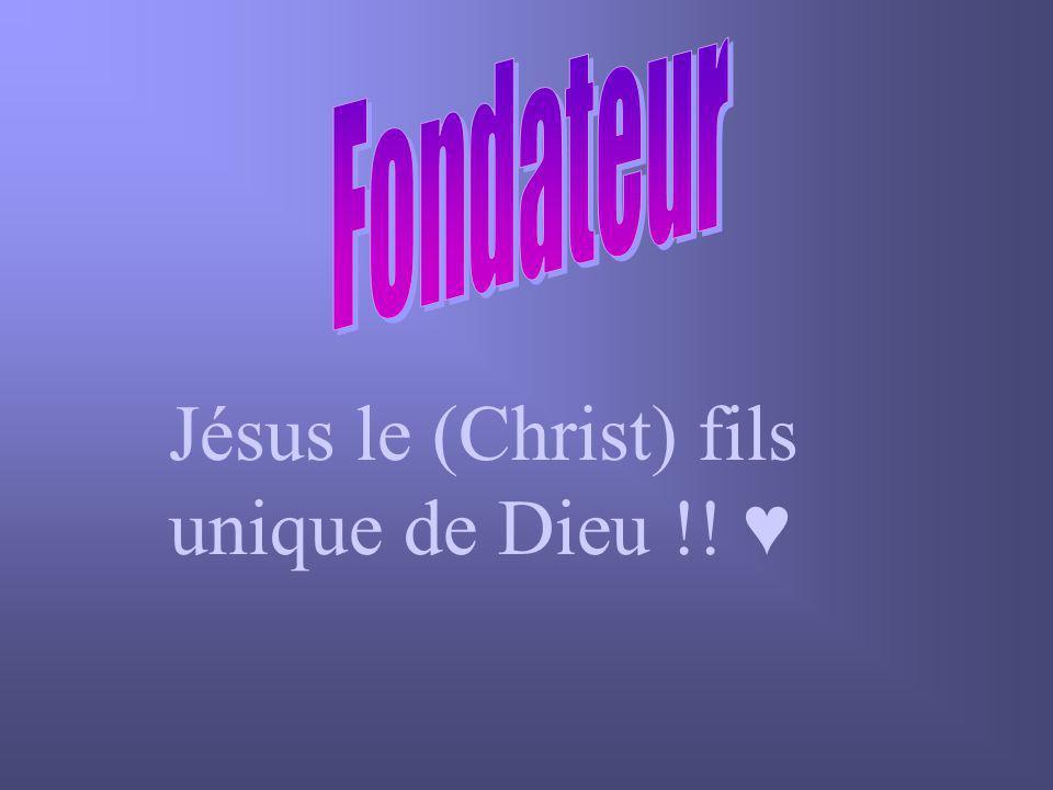 Jésus le (Christ) fils unique de Dieu !! ♥