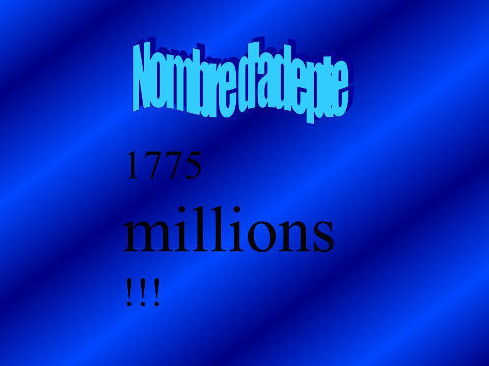 Nombre d adepte 1775 millions !!!