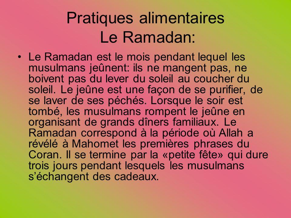 Pratiques alimentaires Le Ramadan:
