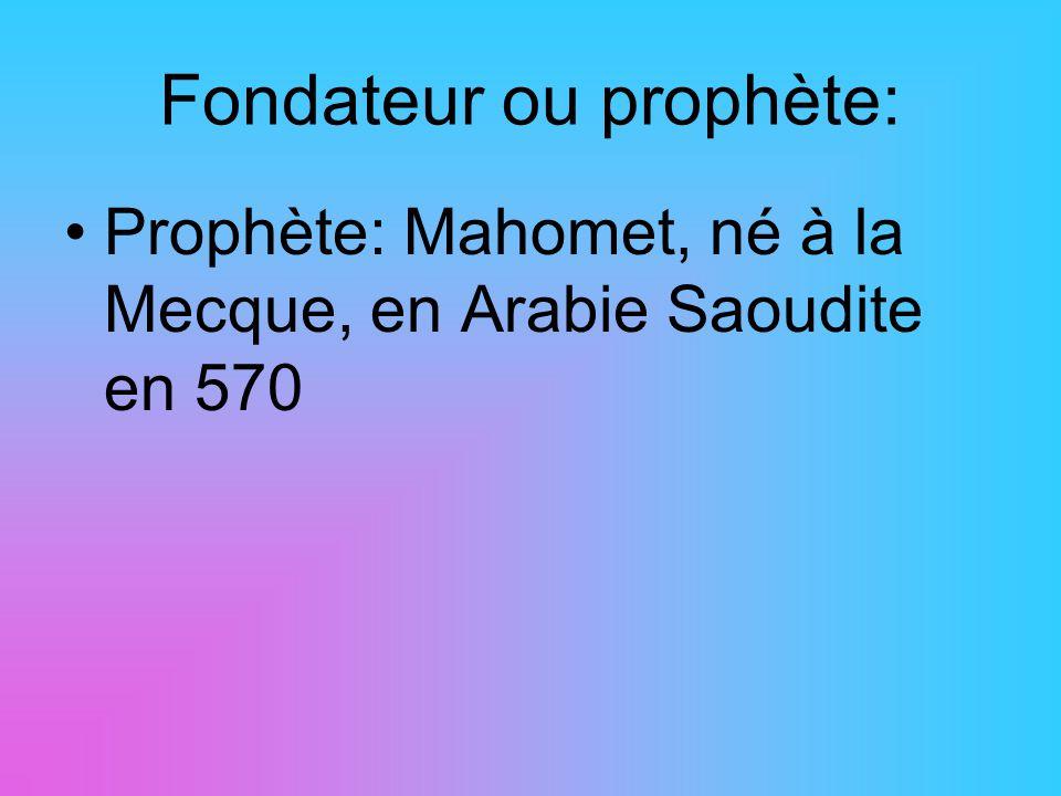 Fondateur ou prophète: