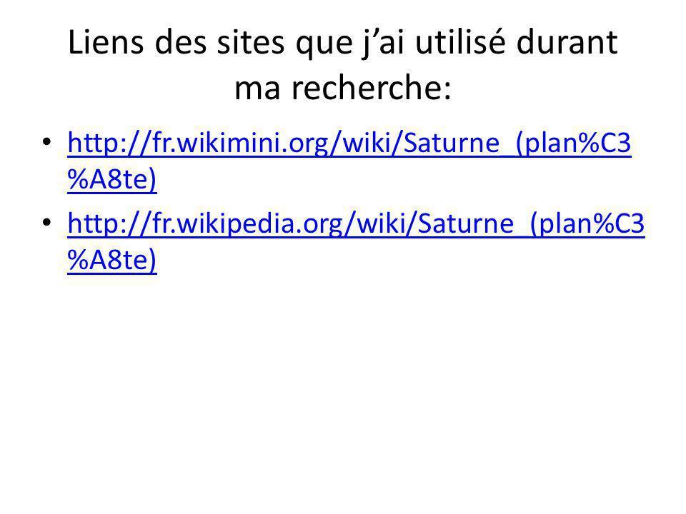 Liens des sites que j'ai utilisé durant ma recherche: