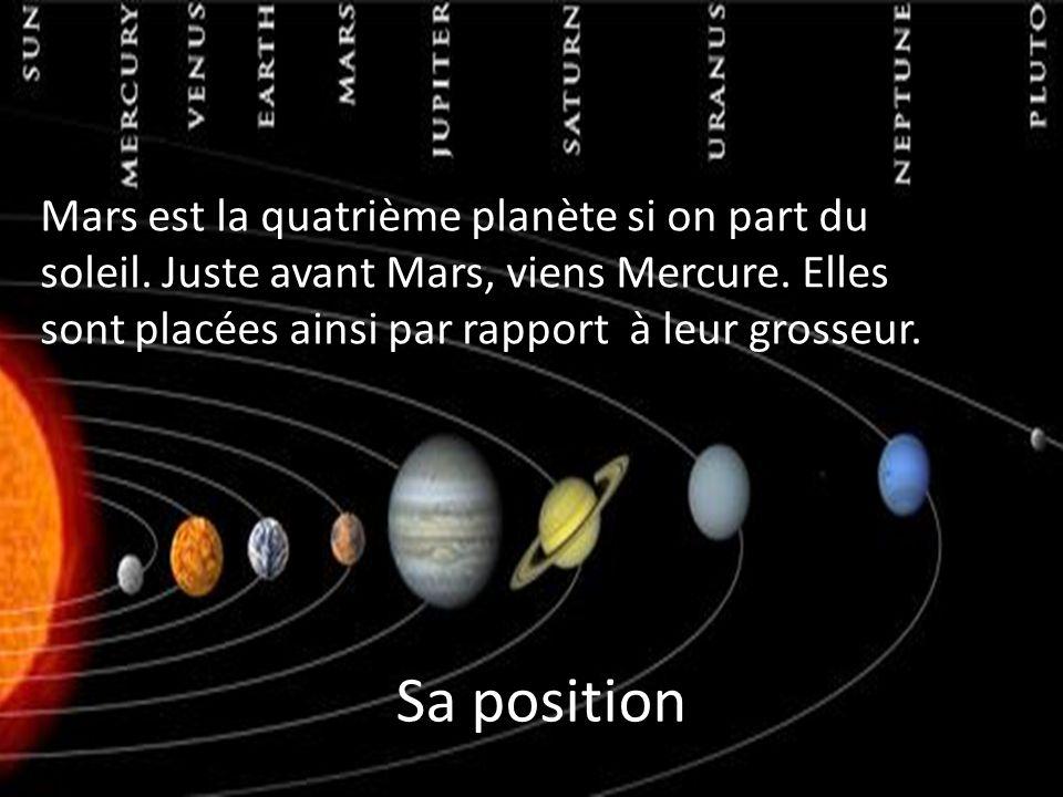 Mars est la quatrième planète si on part du soleil