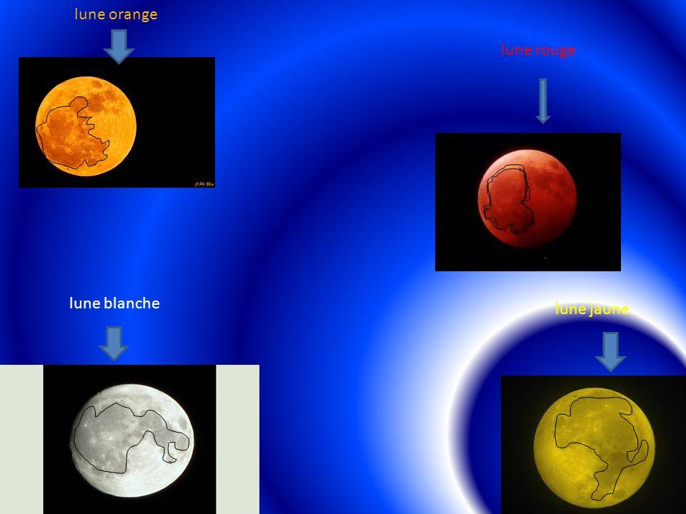 lune orange lune rouge lune blanche lune jaune