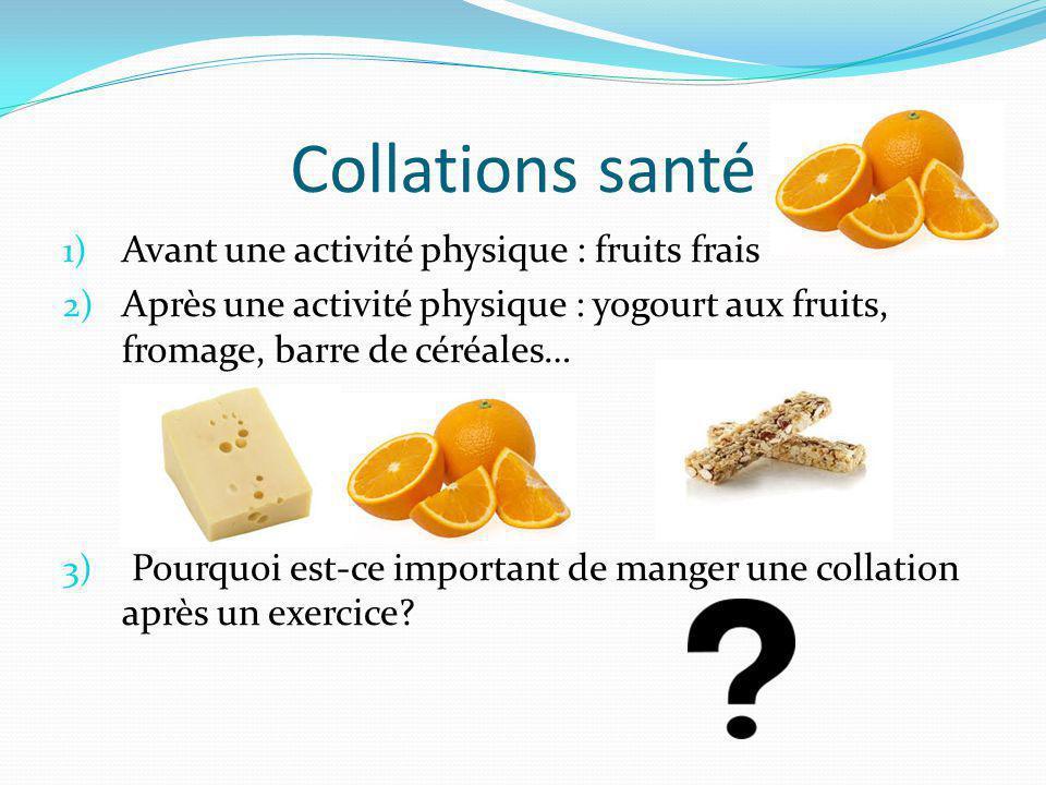 Collations santé Avant une activité physique : fruits frais