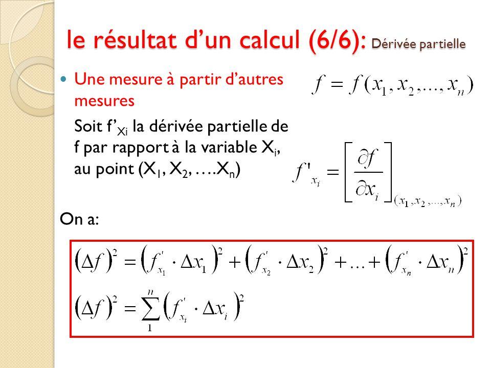 le résultat d'un calcul (6/6): Dérivée partielle