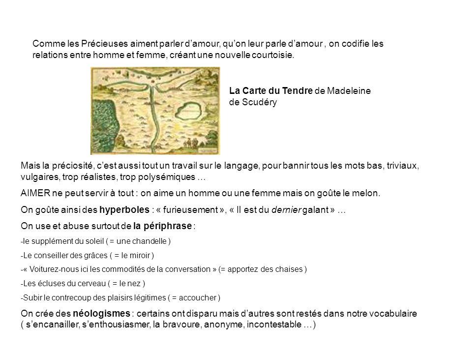 La Carte du Tendre de Madeleine de Scudéry