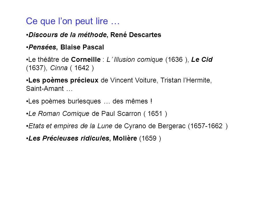 Ce que l'on peut lire … Discours de la méthode, René Descartes