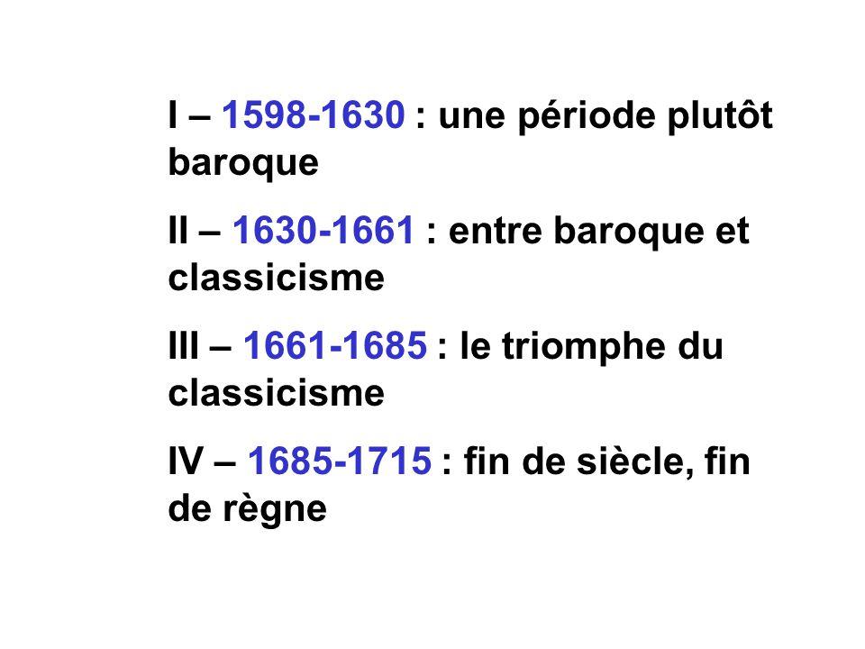 I – 1598-1630 : une période plutôt baroque