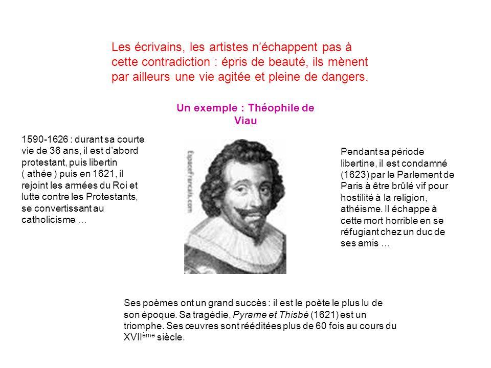 Un exemple : Théophile de Viau