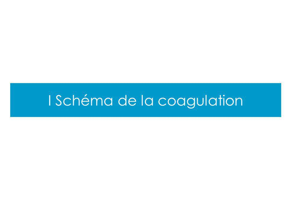 I Schéma de la coagulation
