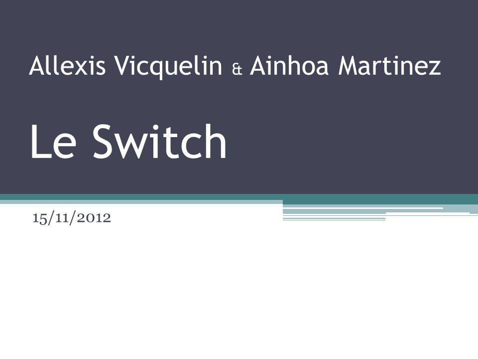 Allexis Vicquelin & Ainhoa Martinez Le Switch