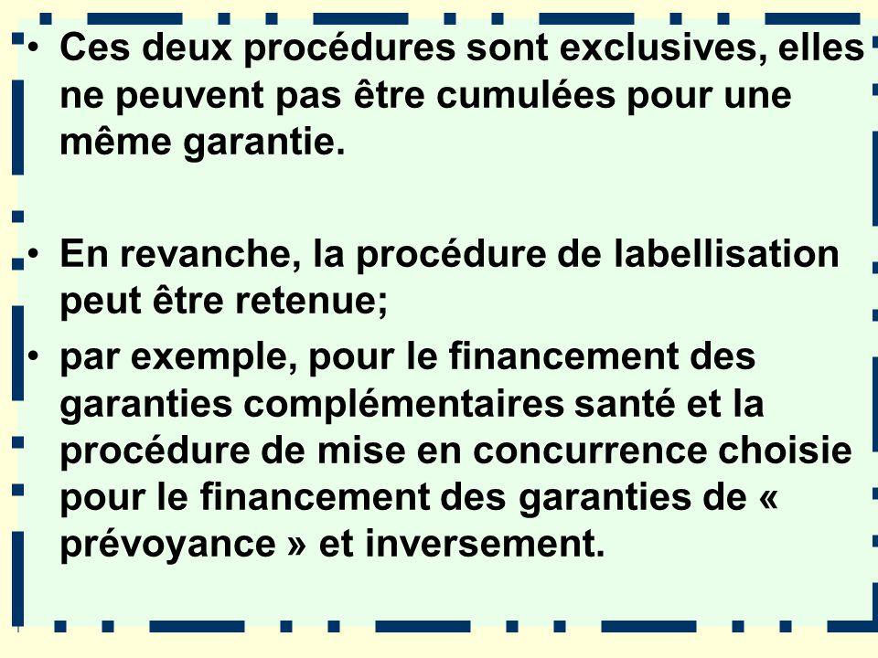 Ces deux procédures sont exclusives, elles ne peuvent pas être cumulées pour une même garantie.