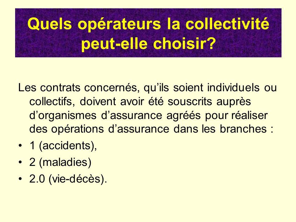 Quels opérateurs la collectivité peut-elle choisir