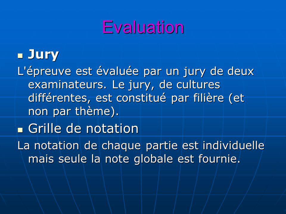Evaluation Jury Grille de notation