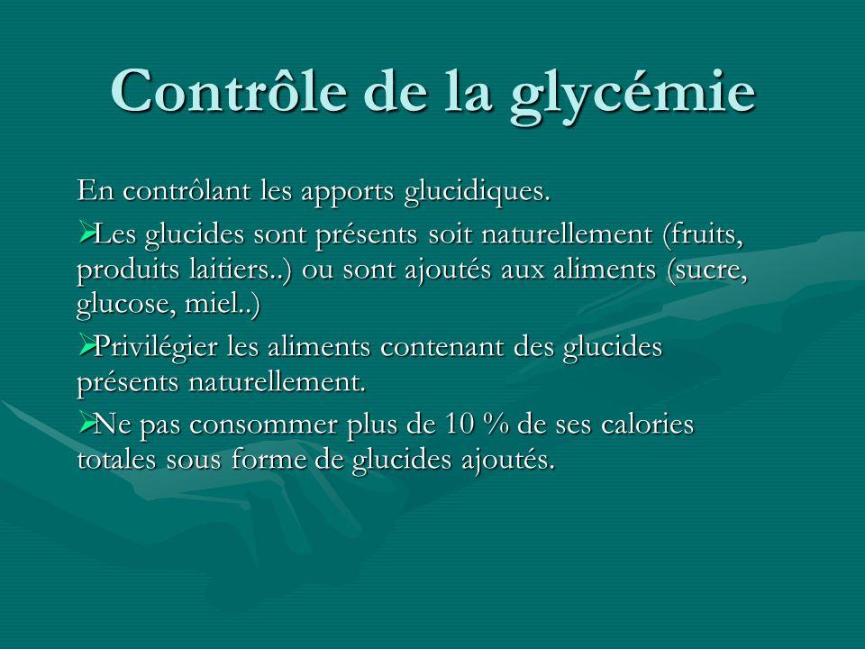 Contrôle de la glycémie