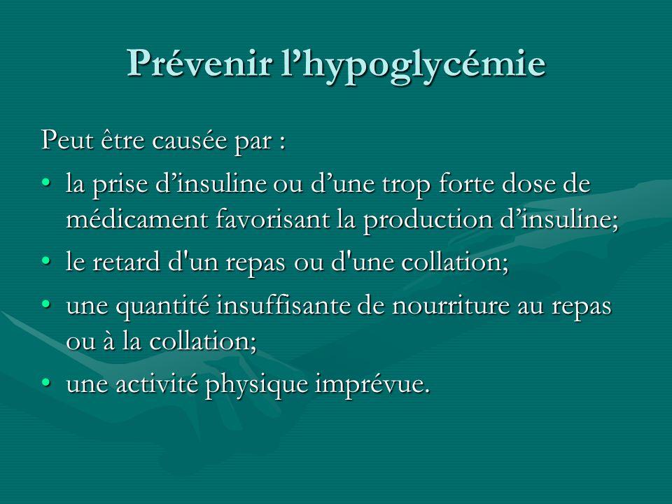 Prévenir l'hypoglycémie