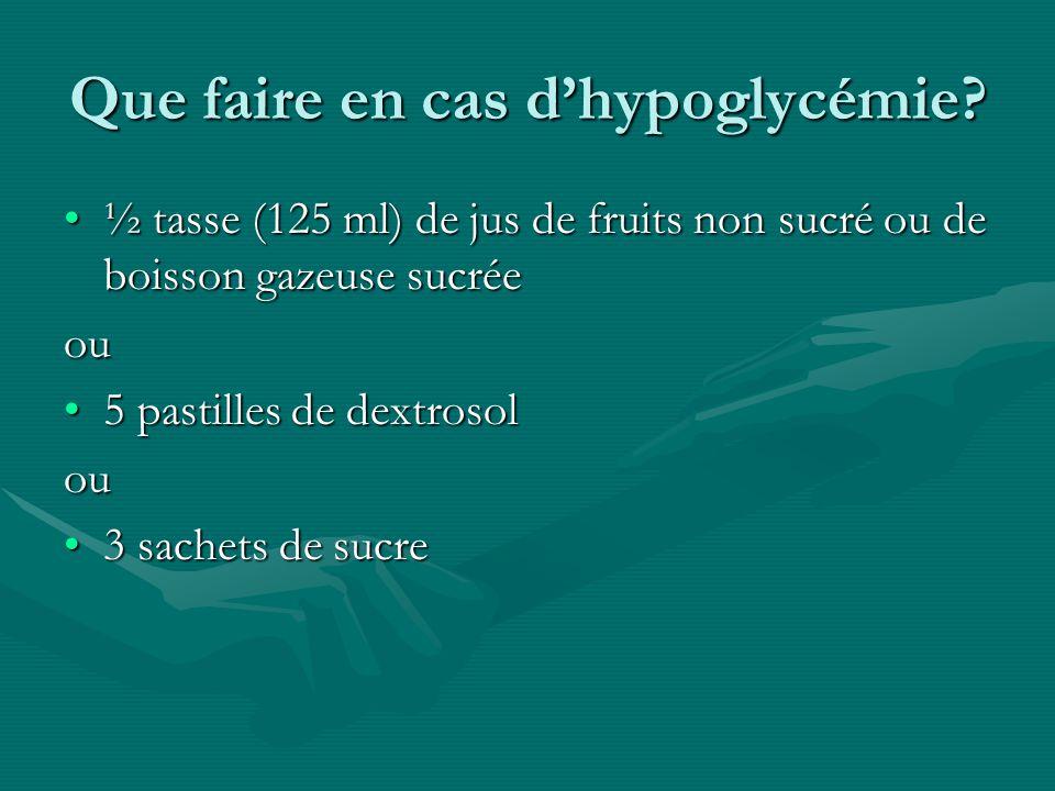 Que faire en cas d'hypoglycémie
