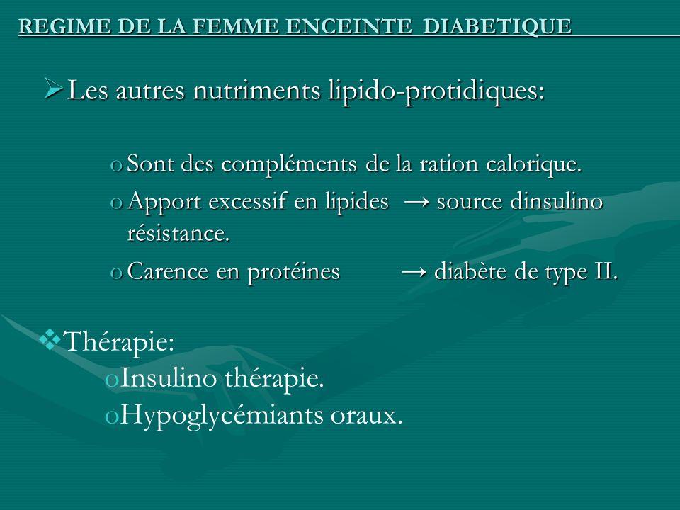 REGIME DE LA FEMME ENCEINTE DIABETIQUE