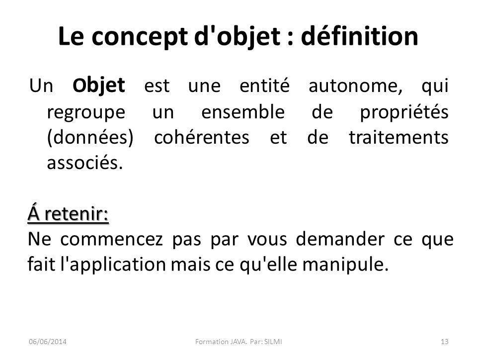 Le concept d objet : définition