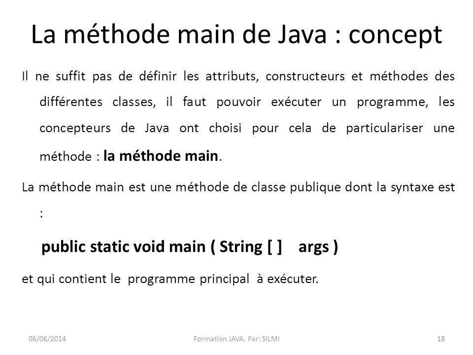 La méthode main de Java : concept