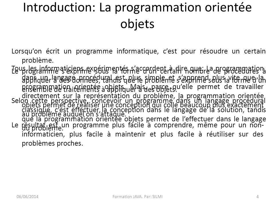 Introduction: La programmation orientée objets