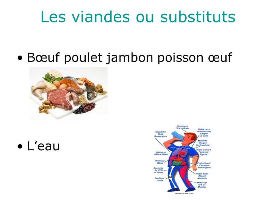 Les viandes ou substituts