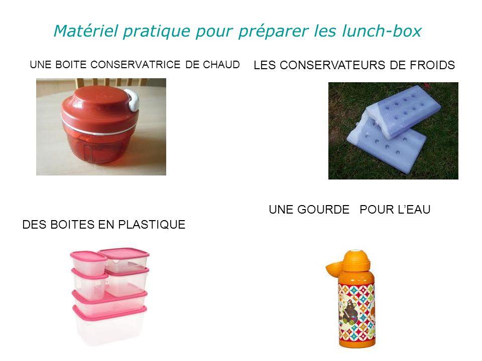 Matériel pratique pour préparer les lunch-box