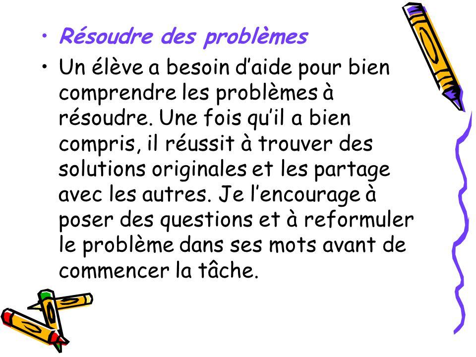 Résoudre des problèmes
