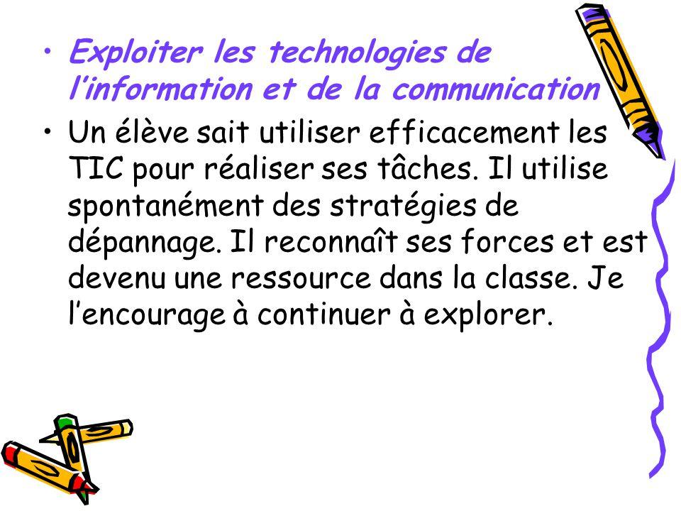 Exploiter les technologies de l'information et de la communication